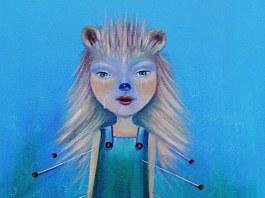 Ica Mária Zilahi - Ariciul pictura Süni Vagy Hedgehog artwork