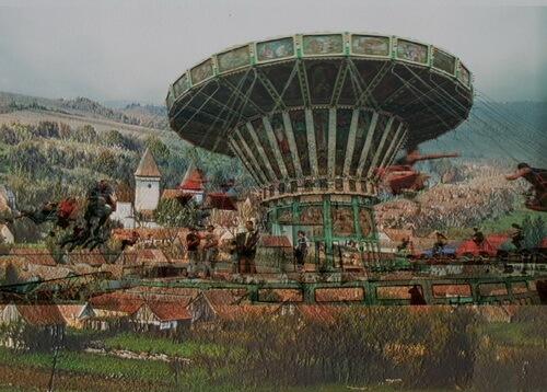 Ringhispilul carusel cu lanturi