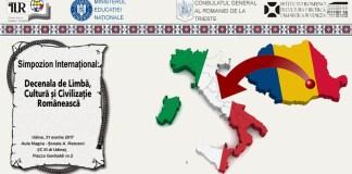 Simpozionul International Decenala de limba cultura si civilizatie romaneasca Udine
