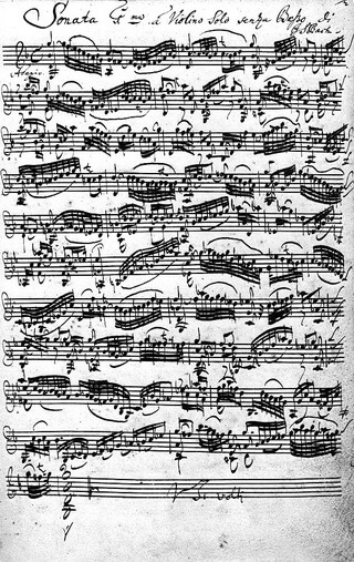 Bach autograf