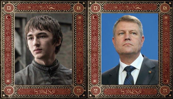 Bran Stark Klaus Werner Iohannis Game of Thrones Politicieni Romani