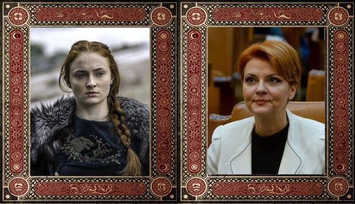 Sansa Stark Lia Olguta Vasilescu Game of Thrones Politicieni Romani