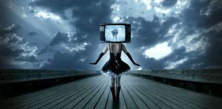 TV head woman dancing manipulation