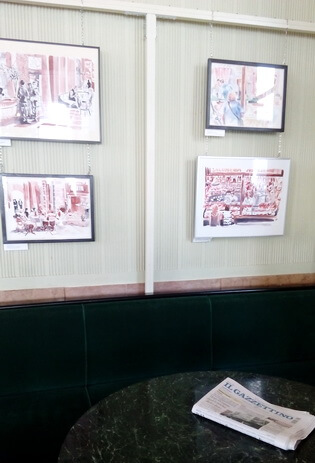 cafe pedrocchi sala daruita locuitorilor - detaliu