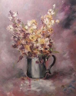 Flori de câmp în cană de cafea