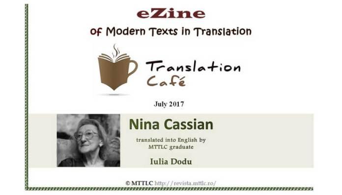nina cassian poeme texte paralele