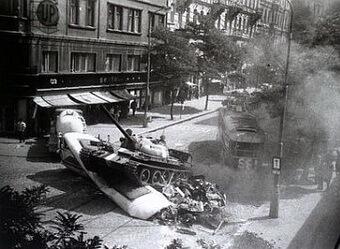 21 august 1968, Praga. Foto Youtube