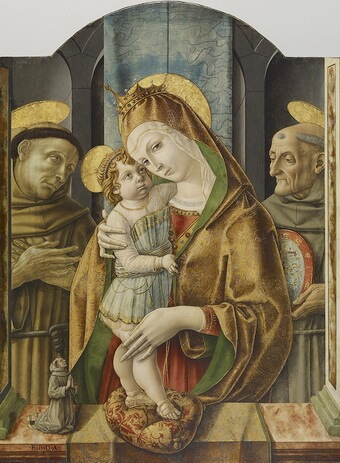 Crivelli-Virgin-and-Child-with-Saints-and-a-Donor