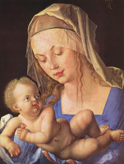 DURER-MADONNA-WITH-CUT-PEAR,1512,-KUNSTHISTORISCHES-MUSEUM,