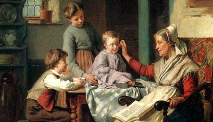 """""""Împreună cu bunica"""" de Théodore Gérard"""