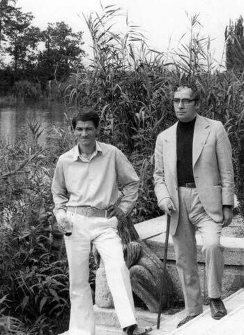 Cezar Ivănescu, Marin Preda, Mogoşoaia, vara anului 1975 (foto Ion Cucu)