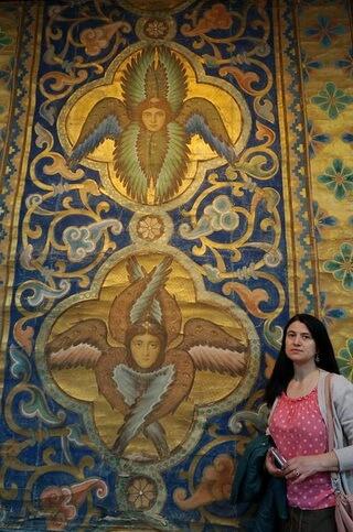 Ingeri pictați de Octavian Smighelschi în Catedrala Mitropolitană din Sibiu