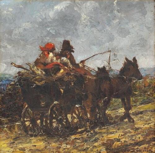 """Octav Băncilă """"Întoarcerea de la târg"""""""