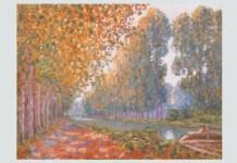 "Francis Picabia, ""Canalul Moret, efect de toamnă"", 1909"