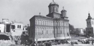 Translarea Bisericii Mihai-Vodă din București. Sursa foto site Patrimoniul din București