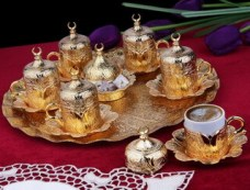 Piese otomane de cafea (set de aur)