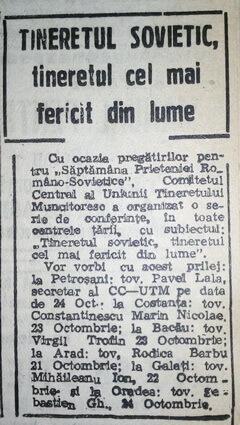 tineretul sovietic scanteia proletcultism