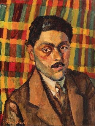 """Nina Arbore, """"Portretul unui artist"""", ulei pe pânză"""