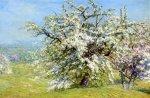 """John Joseph Enneking, pictor american impresionist (1841–1916 ), """"Pajiște în floare"""""""