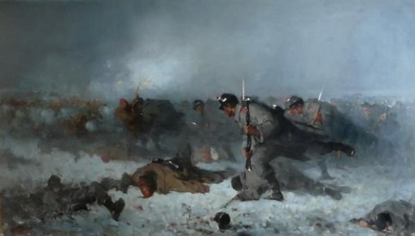 """""""Atacul de la Smârdan"""", versiune, Muzeul de Artă """"Jean Mihail"""", Craiova"""