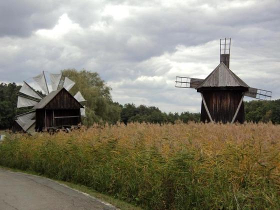 Mori de vânt în Dobrogea. Sursa foto: Muzeul Civilizației Populare Tradiționale ASTRA, Sibiu