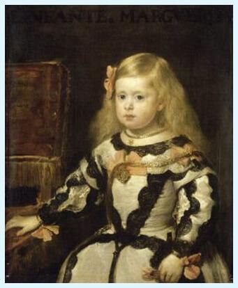 """Diego Velázquez, """"Infanta Maria Margareta"""", 1653, Muzeul Luvru, Paris"""