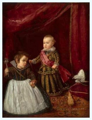 """Diego Velázquez, """"Infantele Balthasar Carlos cu pitic"""", 1631–1632"""