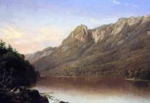 Eagle Cliff Franconia Notch New Hampshire 1864 Painting by Johnson David