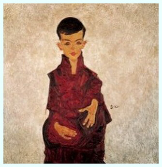 """Egon Schiele, """"Portret de băiat"""""""