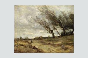 Florentina Loredana Dalian Jean-Baptiste Corot, În bătaia vântului (1855–1860), Muzeul de Artă, Reims
