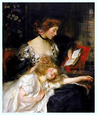 """James Jebusa Shannon (1862–1923), pictor american, """"Sunt un copil"""""""