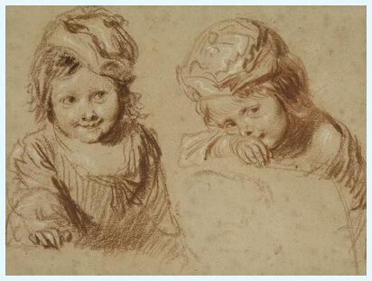 "Jean-Antoine Watteau, ""Studii de copii"""