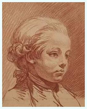 """Jean-Baptiste Greuze (21 august 1725–4 martie 1805), """"Portretul lui Alexandre Brongniart copil"""""""