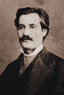 Mihai Eminescu, fotografie de Franz Duschek, București, 1880