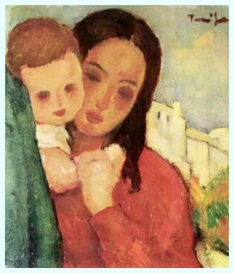 "Nicolae Tonitza, ""Mama şi copilul"""