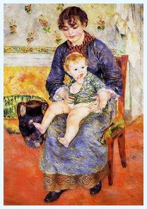 """Pierre-Auguste Renoir, """"Mama și copilul"""", 1881"""