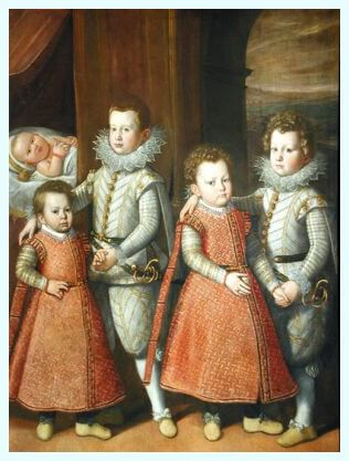 "Tiberio Titi (1578–1637), pictor florentin, ""Portretul copiilor Orsini"", 1597"