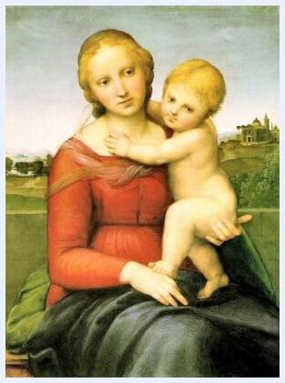 """Rafael, """"Madona cu pruncul"""", c. 1505"""