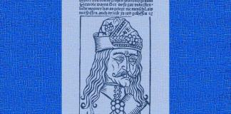 "Vlad Țepeș, gravură în ""Dracole Wayda"", ediția Hans Sporer, Bamberg, 1491"