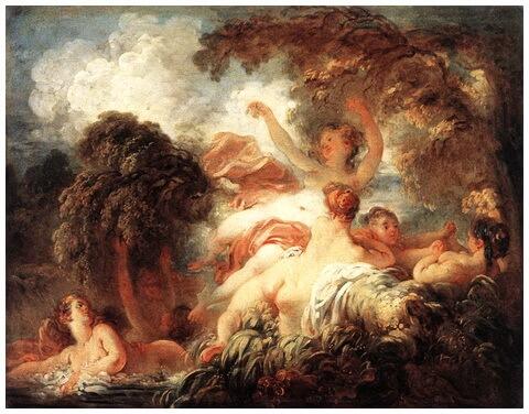 """""""Femei la scăldat"""", 1772 – 1775"""