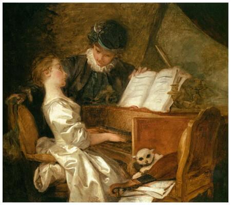 """""""Lecția de muzică"""", 1769"""