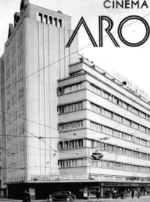 Cinema ARO în Bucureștiul interbelic. Sursa foto istoriafilmuluiromanesc.ro