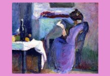 "Dori Lederer Henri Matisse, ""Femeie în rochie violet, citind"", 1898"
