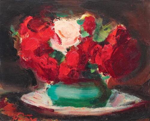 "Francisc Șirato, ""Trandafiri roșii și roz"""