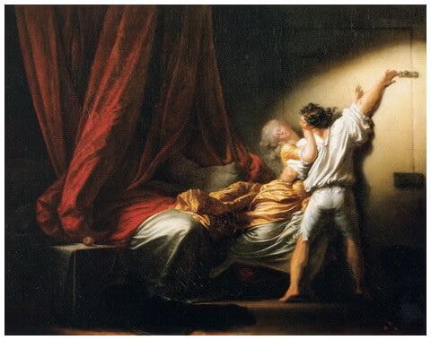 "Jean-Honoré Fragonard, ""Zăvorul"", 1777"