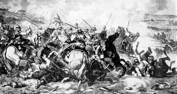 """Juliusz Kossak, """"Bătălia de la Gravelotte,"""" 1871"""