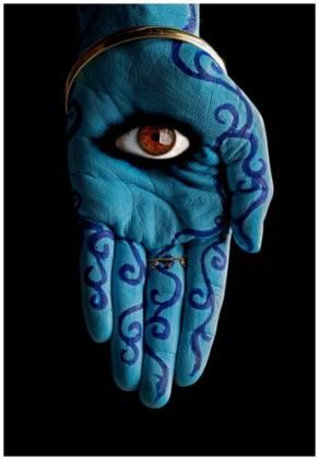 Palmă cu ochi, simbol împotriva deochiului