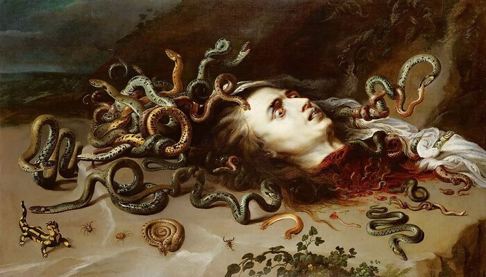 "Peter Paul Rubens, ""Capul Medusei"", 1618"