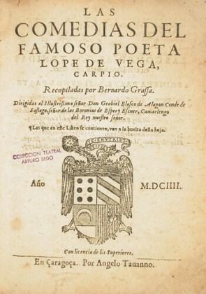 Teatru, ediție, 1604, Zaragoza