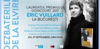 Eric Vuillard la Bucuresti, Timisoara, Iasi